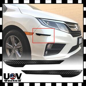 2pcs Carbon Fiber Front Rear Bumper Corner Protector Guard Scratch Proof Strip