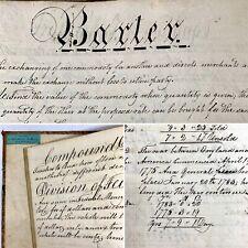 1831 New England Handwritten Manuscript Accounting Practice Book New Bedford