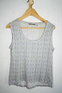 ATHLETA ATHLETIC WOMENS WHITE AND GRAY TANK TOP SMALL