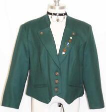 """WOOL EMBROIDERY Jacket Women Bavarian - SHORT SLEEVES German Coat B42"""" 12 M"""