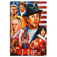 Rocky Balboa Poster Canvas Painting Wall Art Picture For Home Decor 24X36inch