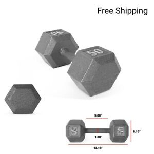 New, CAP Barbell Cast Iron Solid Hex 50 Pounds  Dumbbell. Single (50 lb)