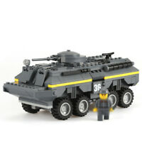 384pcs Militär Panzer Tank Modell Bausteine mit WW2 Soldat Figuren Spielzeug