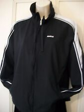 Womens Reebok Track Warm Up Running Jacket Full Zip Black Size Medium