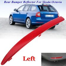 Rear Left Bumper Reflector Light Cover For Skoda Octavia MK2 1Z N/S/R