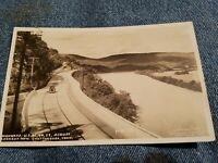 Vintage PHOTO POSTCARD Highway by river across from LM Chattanooga Tennessee