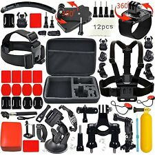 Leknes KIT ACCESSORI per GoPro Hero 5 4 3+ 3 2 1 FOTOCAMERA HERO sessione Sports