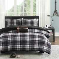 Mi Zone Harley Reversible 3 Pc Comforter Set  Black Plaid Twin/Twin XL