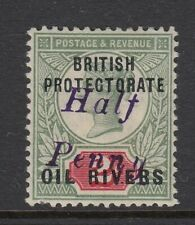 SG20 Niger Coast Protectorate Oil Rivers 1893 - ½D ON 2D - MINT NO GUM