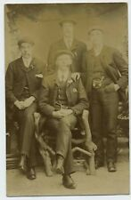 Five Young Men All Smoking Pipes! Vintage 1920's Real Photograph Postcard R6