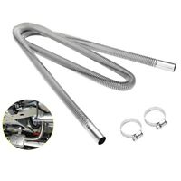 200cm Car Air Parking Heater Exhaust Pipe with 2 Clamps Fuel Tank Exhaust P M1J6