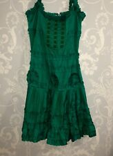 Blumarine Green 100% Silk Dress Size I 38/D 32 NEW!!!
