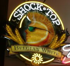 "New Shock Top Wheat Beer Neon Light Sign 20""x16"" Hd Vivid Printing Technology"