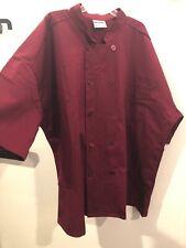 uncommon threads chef coat Burgundy 4Xl