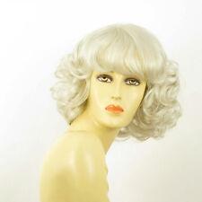 mid length wig for women white curly ref: VANDA 60 PERUK