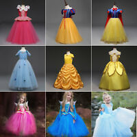 Kids Girl Princess Costume Halloween Cosplay Party Fancy Dress Ball Gown Dresses