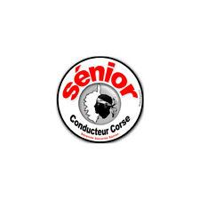 Sticker autocollant conducteur Sénior ile Corse