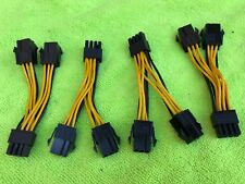 LOT 4 pcs ORIGINAL PNY Dual 6 Pin Female To 8 Pin Male PCIE VGA Power Cable Y