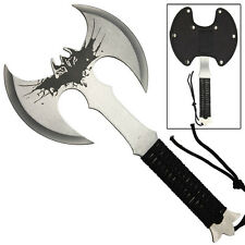 Night Wing Double Headed Stainless Steel Full Tang Outdoor Target Throwing Axe