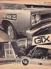 1968 PLYMOUTH HEMI GTX 426/425 HP ~ ORIGINAL 4-PAGE ROAD TEST / ARTICLE / AD