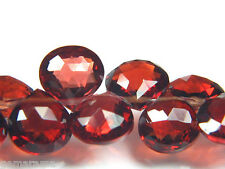 "Genuine Tanzania ""Pyrope"" Red Garnet Gemstone Faceted Heart Briolette Beads 8x"