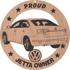 Volkswagen Jetta Red Alder Wood Ornament Laser Engraved