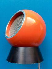ISOPHON Kugel Lautsprecher BOX Kalottenstrahler ISONETTA HFB100 Orange Space Age