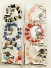 Wholesale 12 Pcs Mix Color Lots Love Hearts Style Rhinestone Charm Bracelet Sets