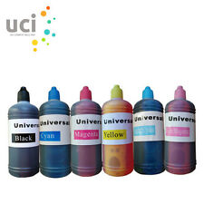 6 x 100ml Quality Printer Refill to Epson Brother HP ink Bottles kit NON-OEM