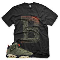 "New Black ""B"" BLESSED T Shirt for Jordan 6 Travis Scott Cactus Jack Olive"