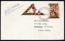 COOK ISLANDS 1969 airmail COVER to USA @D9376