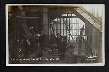Newton Bank, Hyde - Printworks after the Flood - real photographic postcard