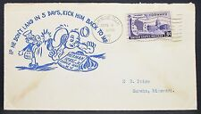 US Mail Herst Cachet Cover Shrub Oak Wisconsin Centennial 3c USA Brief (Y-347