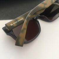 HUGO BOSS ORANGE Unisex Transparent Olive Spotted Mirrored Sunglasses BO0132/S