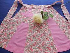 Vintage Pink Paisley Apron Handmade