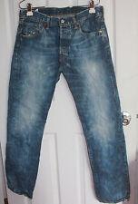 Levis 501 Bleached Blue Jeans 32x32 Button Fly 100% Cotton