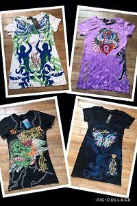 Christian Audigier T-shirt/Tops UK8-10 BNWT Ladies