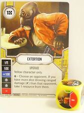Star Wars Destiny - #054 Extortion + dice-amarillo-Empire at War