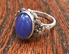 Antique Silver & Chalcedony Ring - Bernard Instone - c.1930 - UK Size O