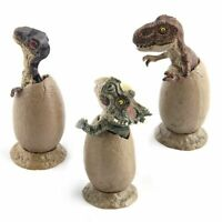 Mini Hatching Dinosaur Eggs 3pcs Kids Toy Growing Baby Action Figure Accessories