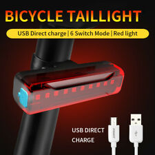 Bicycle Tail Light USB Rechargeable LED Waterproof Bike Rear Warning Safety Lamp