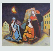 Carl Hofer Kunstdruck Poster Bild seltener Lichtdruck Abschied im Traum 83x86 cm