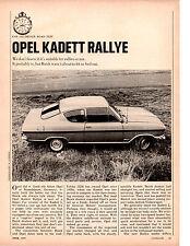 1967 OPEL KADETT RALLYE ~ ORIGINAL 4-PAGE ROAD TEST / ARTICLE / AD