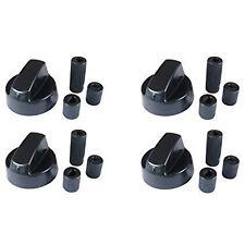 4 X Fully Universal Cooker Oven Hob Black Control Knobs & Adaptors - Fits All