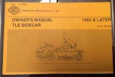 1988 Harley Davidson Tle Sidecar Owners Manuell -für 1984 & Later Seitenwagen