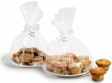 Wilton 3 Pack Clear LARGE Party Cakes Pies Sweets Pops Gifts Treats Favors Bags