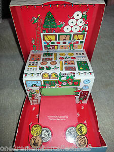 HALLMARK 1985 Money Holder CHRISTMAS CARD Box SANTAS WORKSHOP Pop Up VINTAGE New