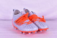 Youth Boy's Puma Future 4.3 Netfit Soccer Cleats, Glacial / Energy Red