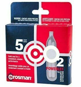 5 Pack Crosman 12-Gram CO2 Powerlet Cartridges for Air Rifles / Pistols READ!
