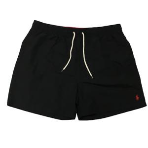 Polo Ralph Lauren Traveler Swim Trunks Mens Large Black and Red Shorts BRAND NEW
